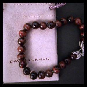 David Yurman Red Tiger Eye Bracelet